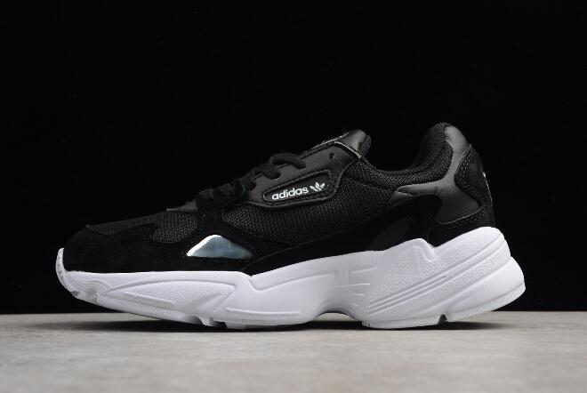 Cheap Womens adidas Falcon W Black White