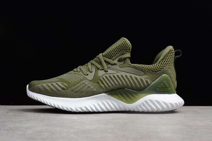 New adidas AlphaBounce Army Green/White
