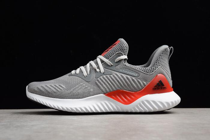 New adidas Alphabounce Beyond Grey Red Men's Running Shoes AC8625