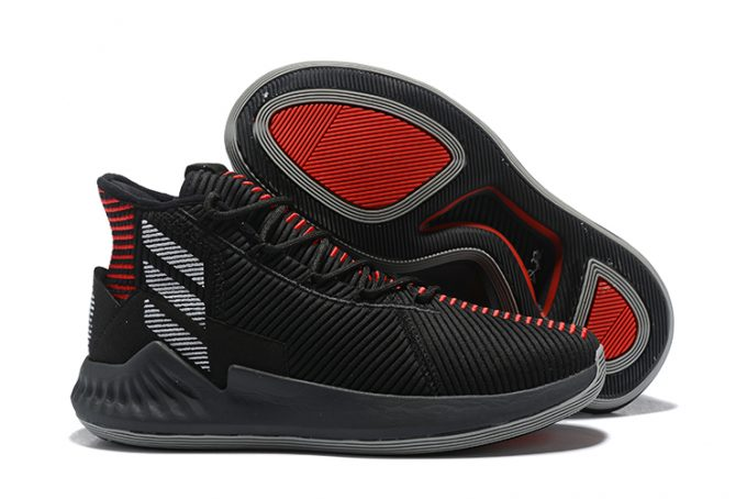 New adidas D Rose 9 Black Red White For Sale 680x454