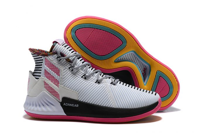 New adidas D Rose 9 White Black Pink For Sale 680x454