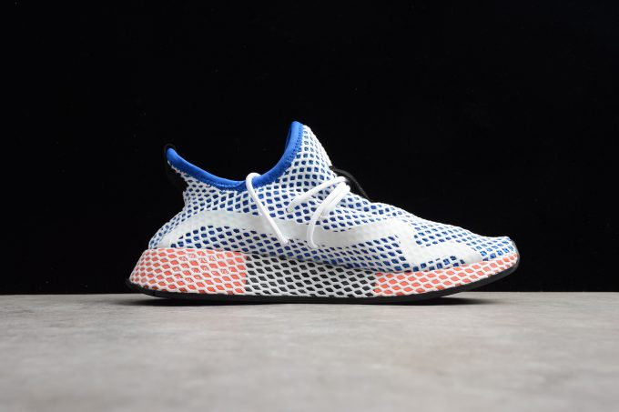 New adidas Deerupt Runner Blue White Red Shoes 1 680x453