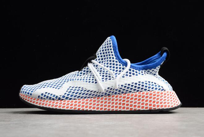 New adidas Deerupt Runner Blue White Red Shoes