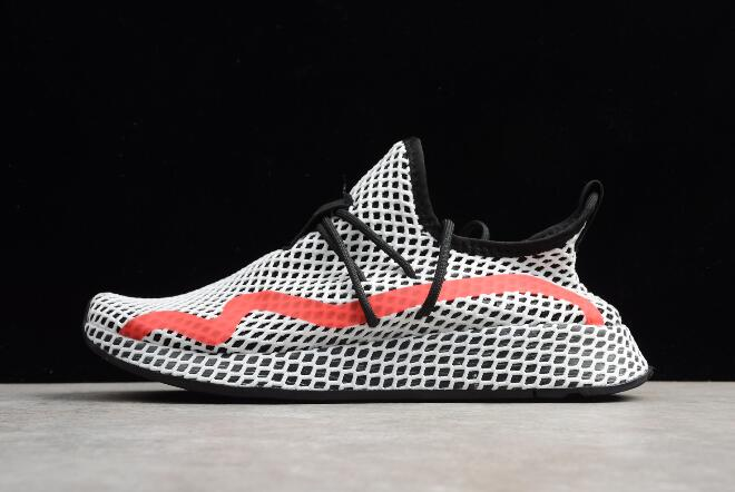 New adidas Deerupt Runner White Black Red Shoes