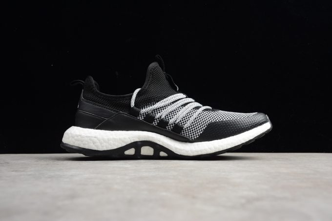 New adidas Pure Boost Black Grey White Mens Running Shoes 1 680x453