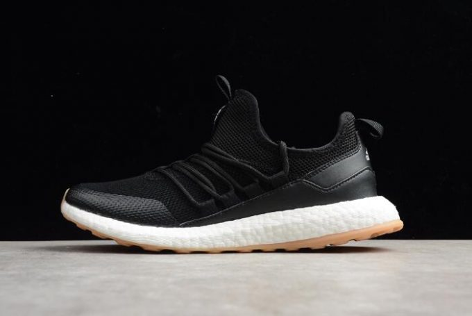 New adidas Pure Boost Black White Gum Mens Running Shoes 680x455