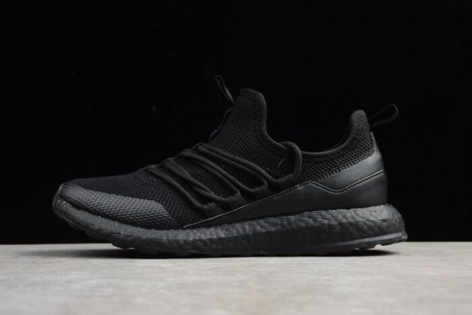 New adidas Pure Boost Triple Black Mens Running Shoes 680x455