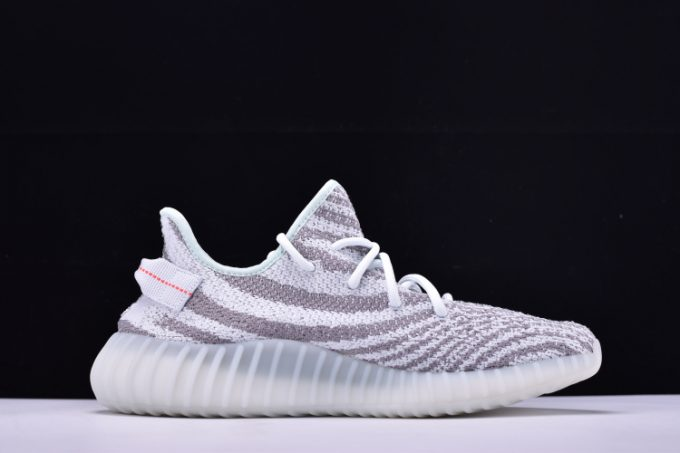New adidas Yeezy Boost 350 V2 Blue Tint Grey Three Hi Res Red 1 680x453