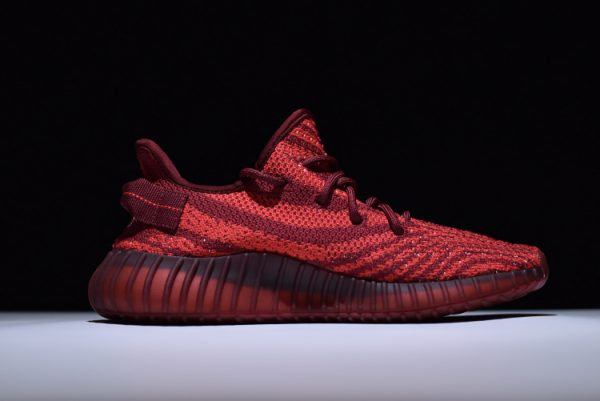 New adidas Yeezy Boost 350 V2 Maroon Zebra Teach Red White 1 600x401