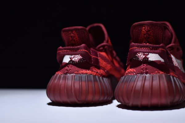 New adidas Yeezy Boost 350 V2 Maroon Zebra Teach Red White 3 600x401