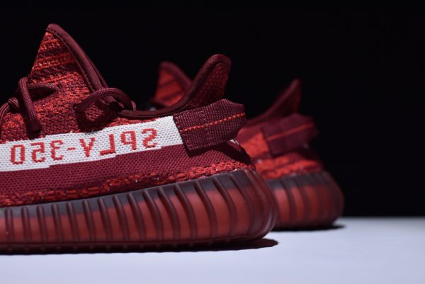New adidas Yeezy Boost 350 V2 Maroon Zebra Teach Red White 5 600x401