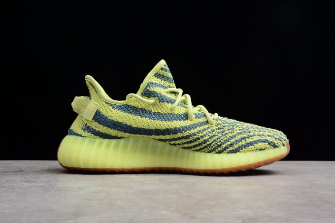 New adidas Yeezy Boost 350 V2 Semi Frozen Yellow Raw Steel Red 1 680x453