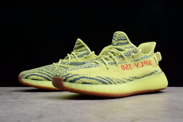 New adidas Yeezy Boost 350 V2 Semi Frozen Yellow Raw Steel Red 2 600x400