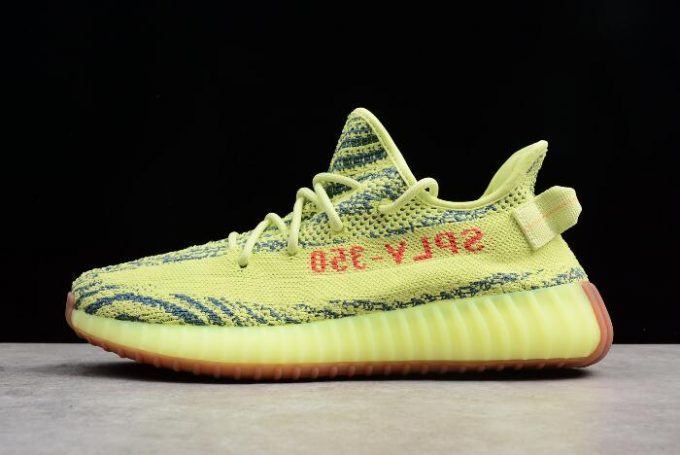 New adidas Yeezy Boost 350 V2 Semi Frozen Yellow Raw Steel Red 680x455