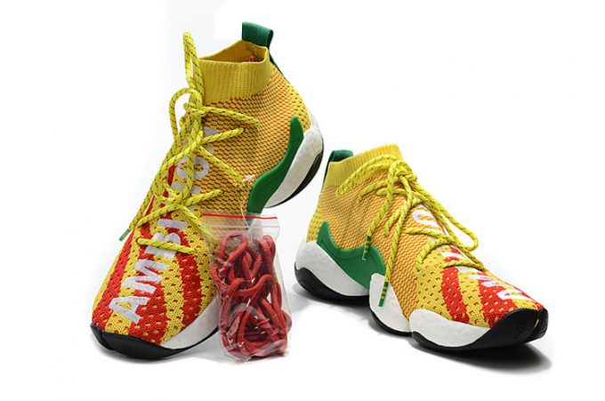 Pharrell x adidas Crazy BYW Ambition Bright Yellow Red Green 1 680x451
