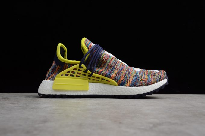 Pharrell x adidas NMD Hu Trail Multicolor Noble Ink Bold Yellow Footwear White 1 680x453