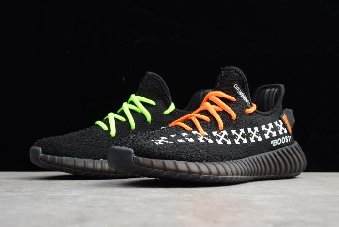 Virgil Abloh Off White X Adidas Yeezy Boost 350 V2 In Black Men S And Women S Size