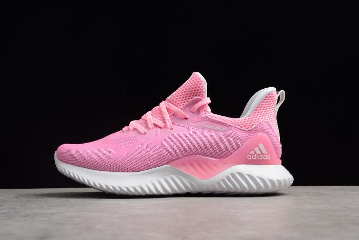 Women's adidas AlphaBounce EM W Pink/White DB6208 Running Shoes