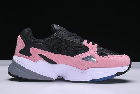Womens adidas Falcon W Black Pink White 1