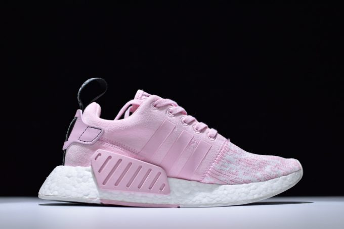 Womens adidas NMD R2 Primeknit Pink White Running Shoes 1 680x454