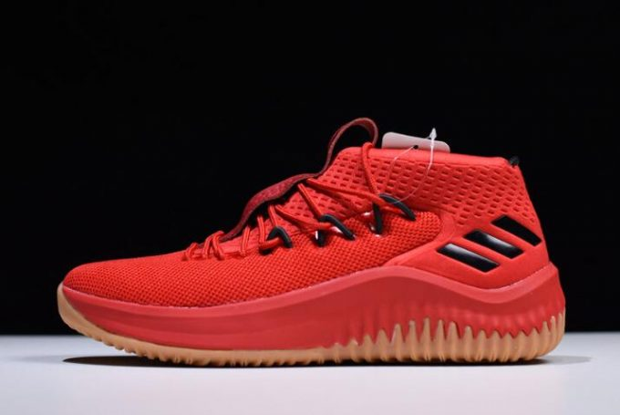 adidas Dame 4 400 Degreez Red Gum Scarlet High Resolution Red Black 680x455