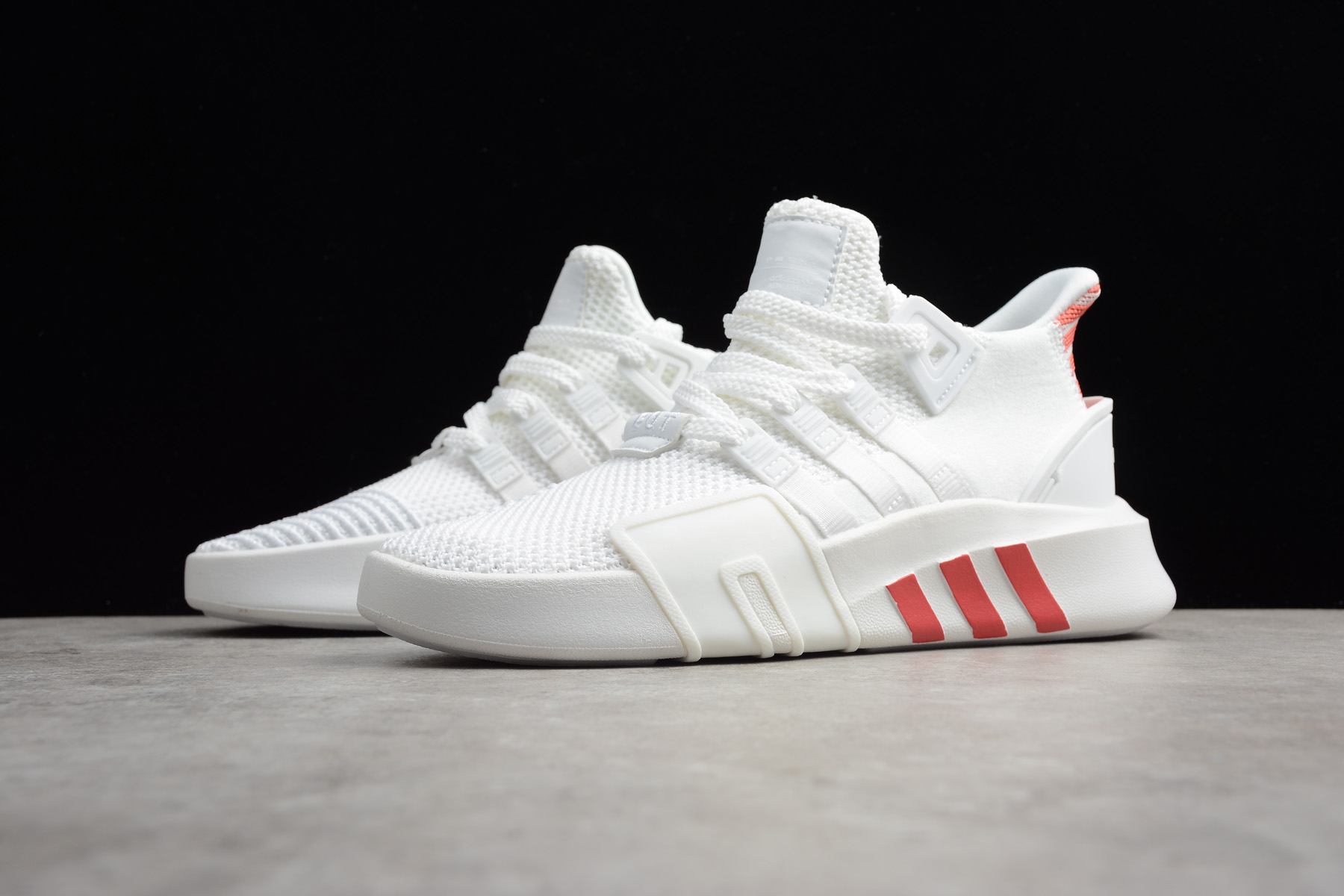 adidas EQT Bask ADV White/Trace Scarlet Men's and Women's Size ...