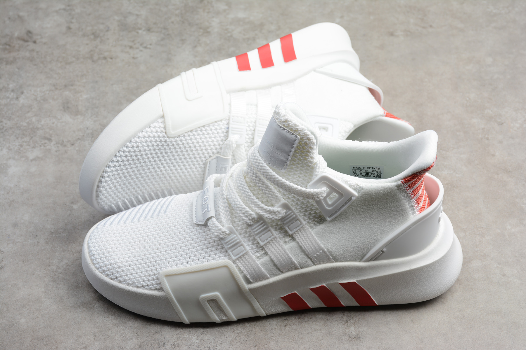 adidas EQT Bask ADV White/Trace Scarlet Men's and Women's Size Shoes CQ2992