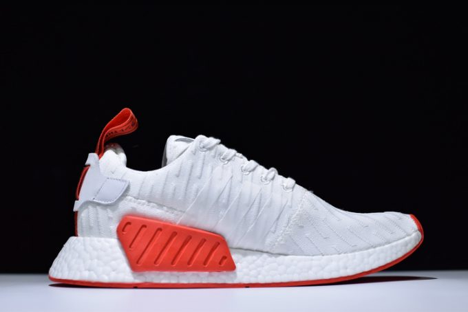 adidas NMD R2 Primeknit in White and Red 1 680x454