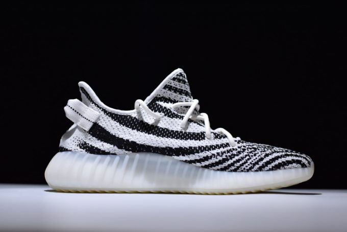 adidas Yeezy 350 Boost V2 Zebra White Core Black Red 1 680x454