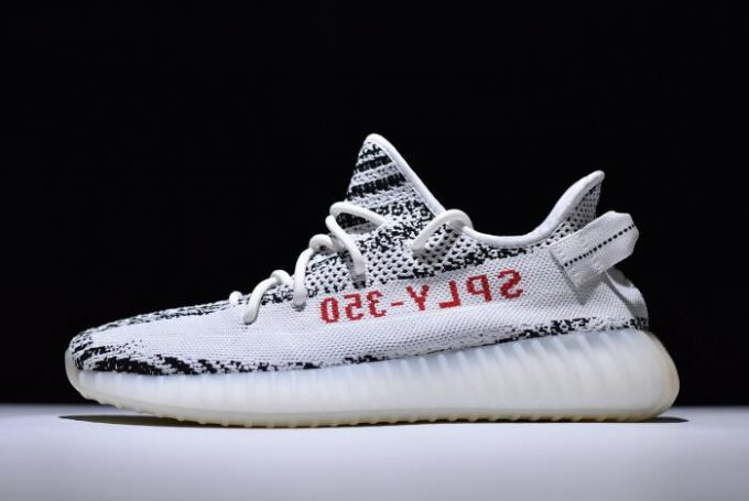 adidas Yeezy 350 Boost V2 Zebra White Core Black Red 680x455