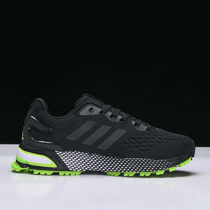 New adidas Aerobounce ST Black Green Mens Size Shoes 1 680x680