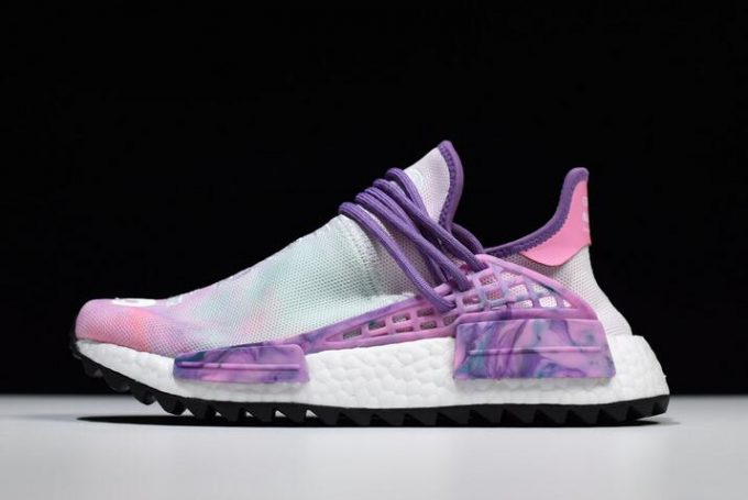 Pharrell x adidas NMD Hu Trail Holi Pink Glow Flash Green Lab Purple 680x455