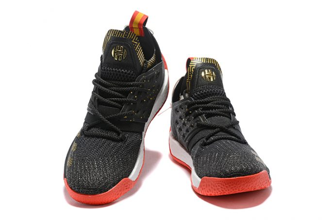 adidas Harden Vol 2 Black Gold White Red 1 680x454