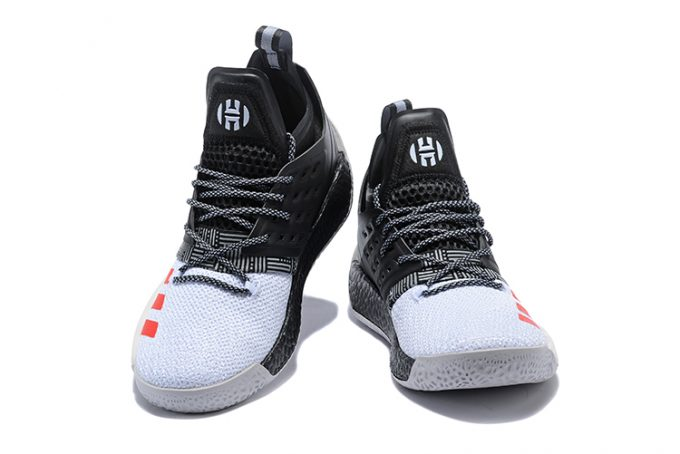 adidas Harden Vol 2 Black White Red Shoes 1 680x454