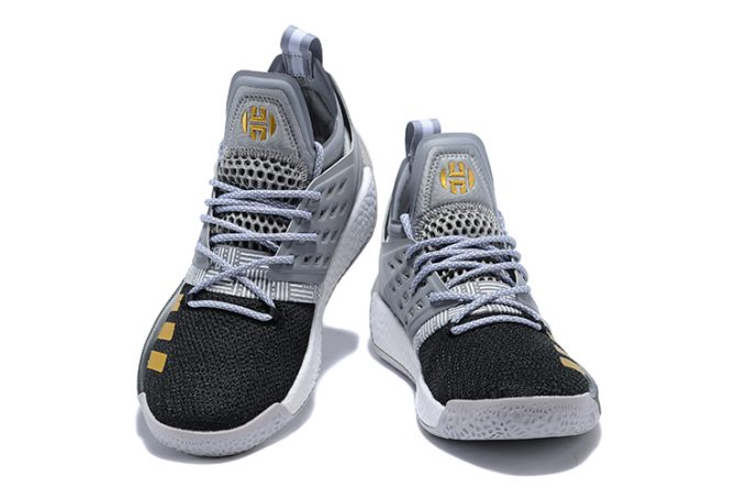 adidas Harden Vol 2 Cool Grey Black Gold Basketball Shoes 1 680x453
