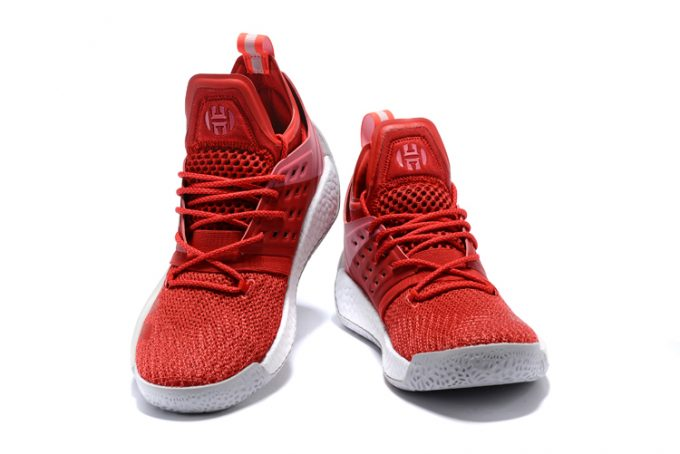 adidas Harden Vol 2 Pioneer Red White Shoes 1 680x454