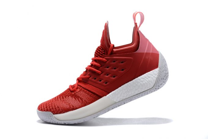 adidas Harden Vol 2 Pioneer Red White Shoes 680x454