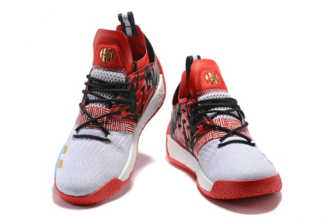 adidas Harden Vol 2 Red Black White Gold 1 680x454