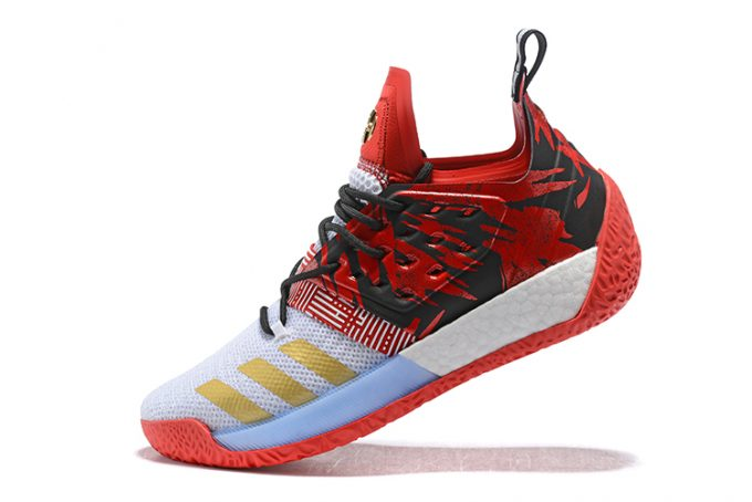 adidas Harden Vol 2 Red Black White Gold 680x454