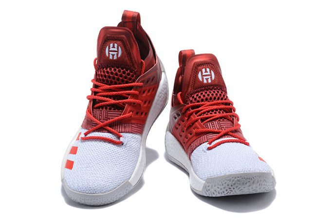 adidas Harden Vol 2 Red White Shoes 1 680x453
