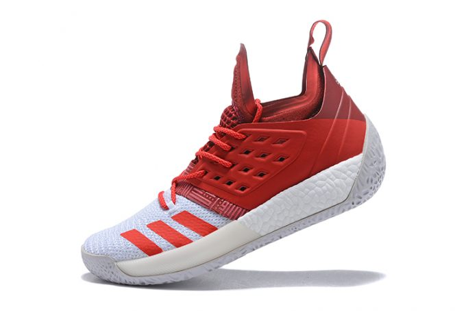 adidas Harden Vol 2 Red White Shoes 680x454