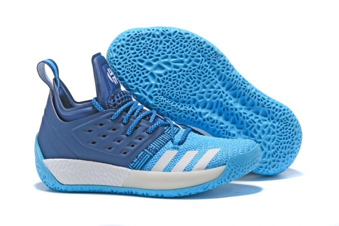 adidas Harden Vol 2 Sports Blue White Mens Shoes 1 680x454