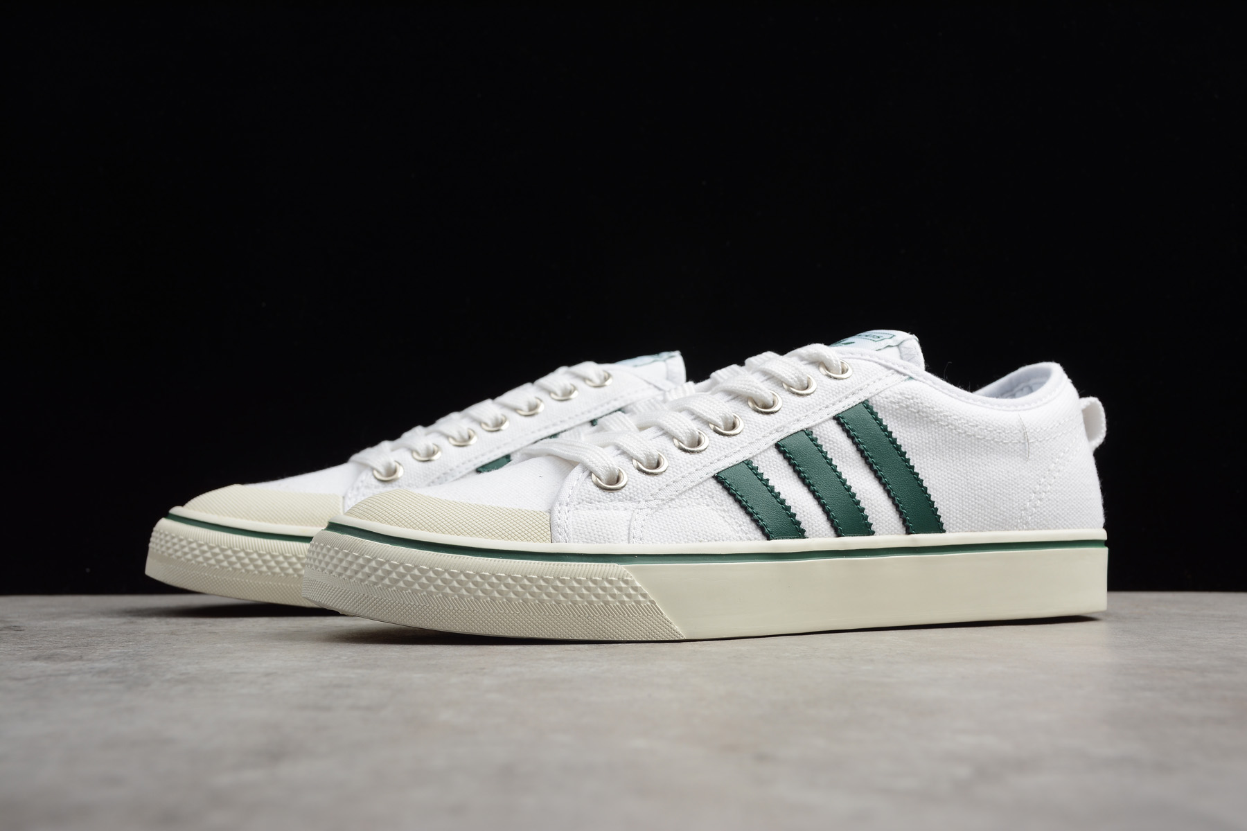 adidas Nizza White Green Canvas Men's and Women's Size Shoes CQ2327
