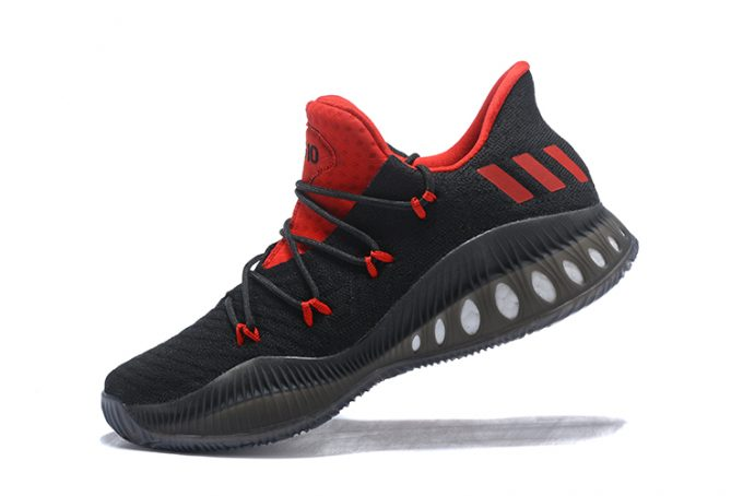 Mens adidas Crazy Explosive Low Black Red Basketball Shoes 680x454