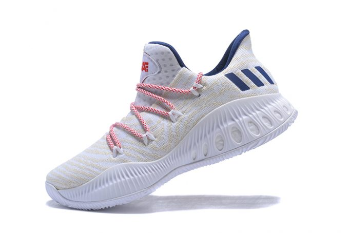 New adidas Crazy Explosive Low White Royal Blue Red 680x454