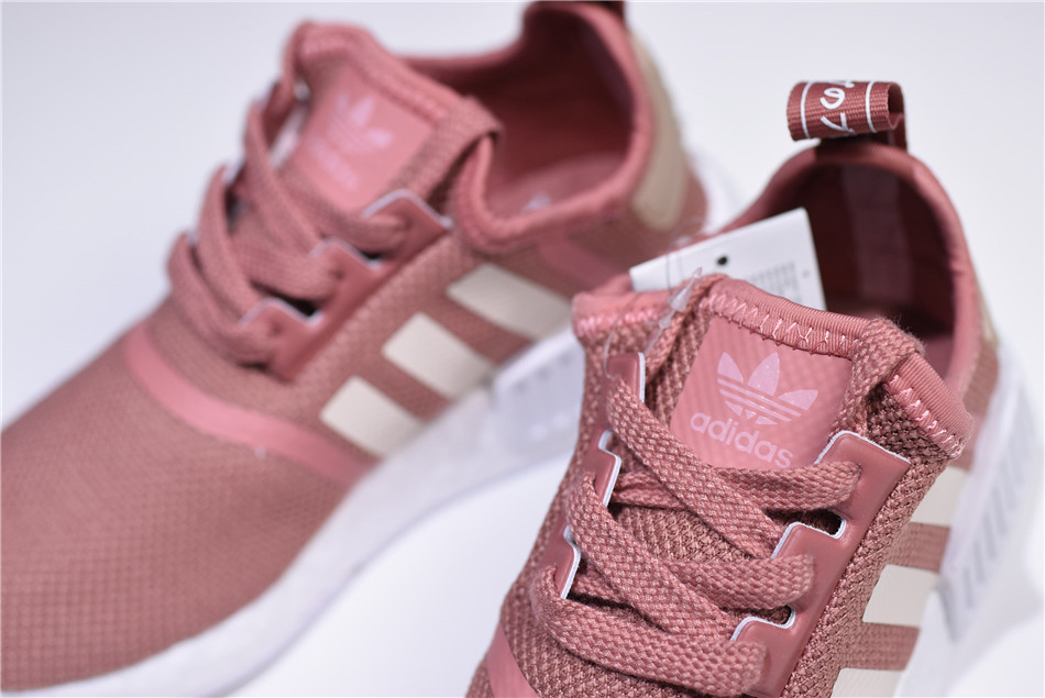 WMNS adidas NMD R1 Raw Pink Rose Salmon Peach Shoes S76006 For Sale