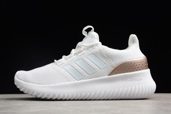 adidas Cloudfoam Ultimate Pure White Rose Gold Running Shoes