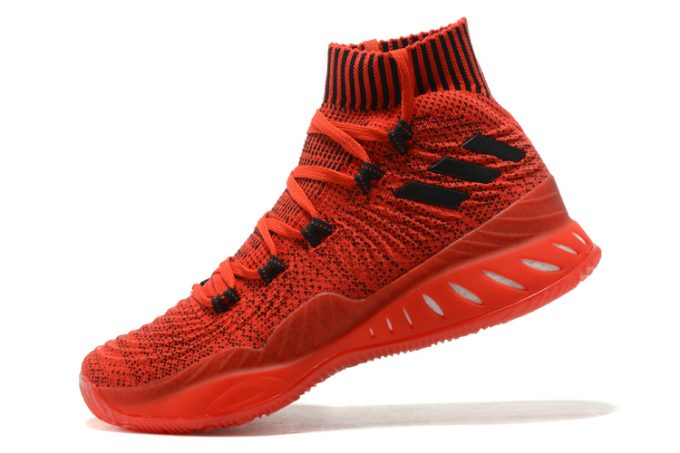adidas Crazy Explosive 2017 Primeknit Chinese Red Black Basketball Shoes 680x453