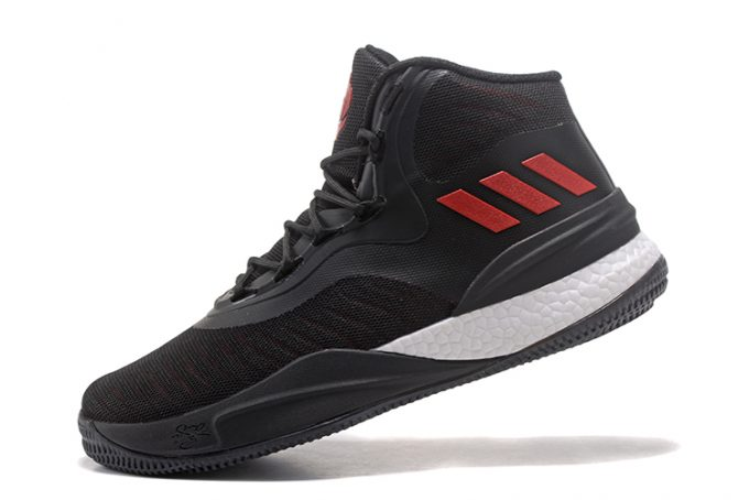 adidas D Rose 8 Black Red White Mens Basketball Shoes 680x454