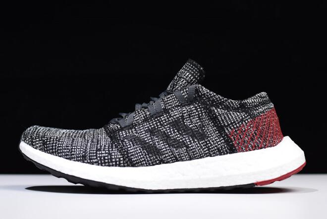 adidas Pure Boost GO Carbon Black Red White